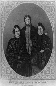 Margaret et Kate, filles du pasteur David Fox, établissent un contact par conversations par coups frappés avec un supposé « esprit » nommé Mr. Splitfoot (M. Pied fourchu).